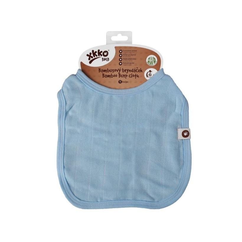 Bamboo Burp Cloth XKKO BMB - Baby Blue 3x1ps (Wholesale packaging)