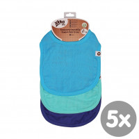Bamboo Burp Cloth XKKO BMB - Ocean Blue MIX 5x3ps (Wholesale packaging)