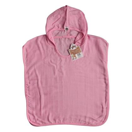 Bamboo Muslin Poncho XKKO BMB - Baby Pink