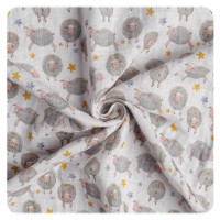 Organic Cotton Swaddle XKKO Organic 120x120 - Dreamy Sheeps