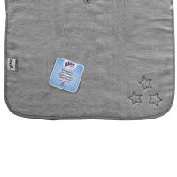 Organic cotton terry Poncho XKKO Organic - Silver Stars