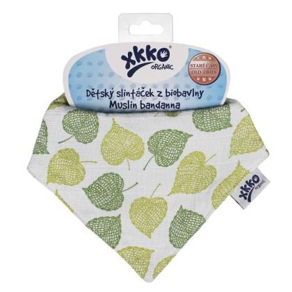 Organic Cotton Muslin Bandana XKKO Organic - Linden