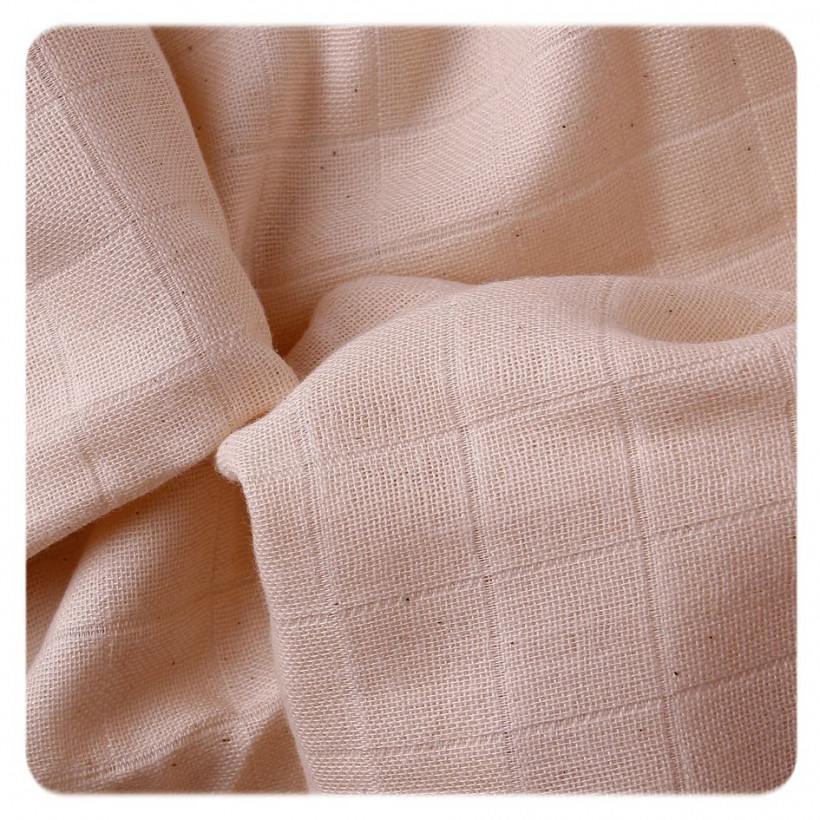 Organic Cotton Muslins XKKO Organic 70x70 Old Times - Natural 40x5ps (Wholesale pack.)
