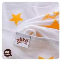 Bamboo muslins XKKO BMB 70x70 - Orange Stars MIX 3pcs