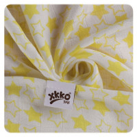 Bamboo muslins XKKO BMB 70x70 - Little Stars Lemon MIX 3pcs