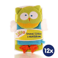 XKKO Cotton Bath Glove - Alien 12x1ps (Wholesale pack.)