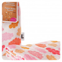 Bamboo swaddle XKKO BMB 120x120 - Heaven for Girls 5x1ps (Wholesale packaging)