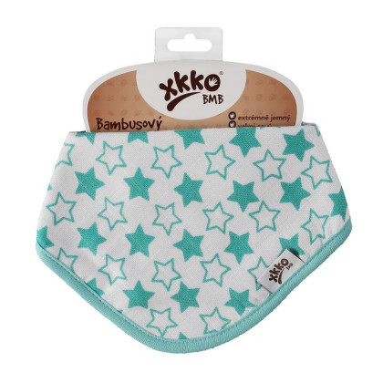 Bamboo bandana XKKO BMB - Little Stars Turquoise