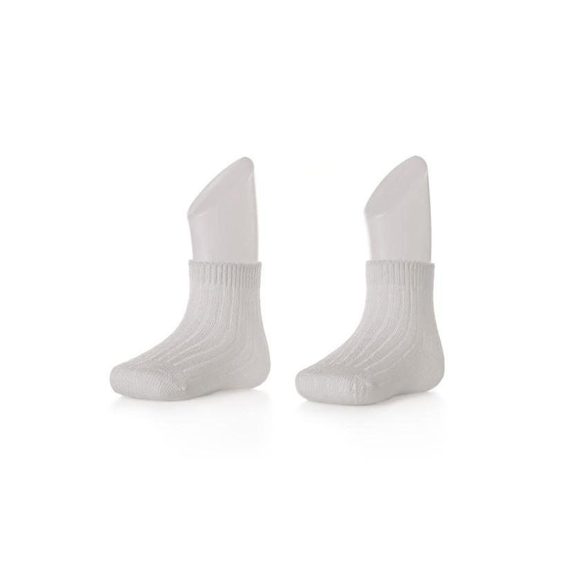 Bamboo Socks XKKO BMB - White