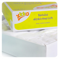 Hight Density Cotton Muslins XKKO LUX 70x70 - White 20x10ps (Wholesale pack.)