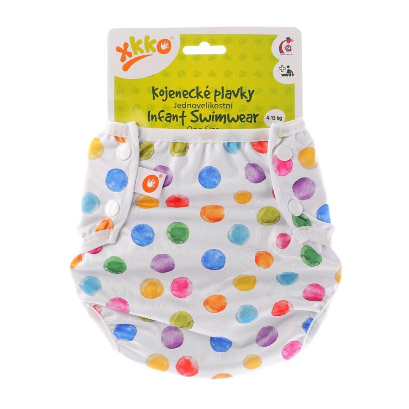 Infant swim nappy XKKO OneSize - Watercolour Polka Dots