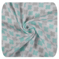 Bamboo swaddle XKKO BMB 120x120 - Mint Cross 5x1ps (Wholesale packaging)