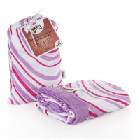 Bamboo muslin blanket XKKO BMB 100x100 - Lilac Waves 5x1ps (Wholesale packing)