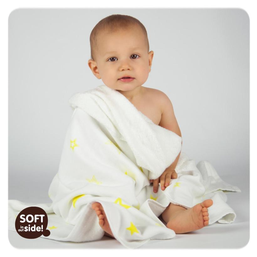 Bamboo blanket XKKO BMB 130x70 - Lemon Stars 5x1ps Wholesale packing