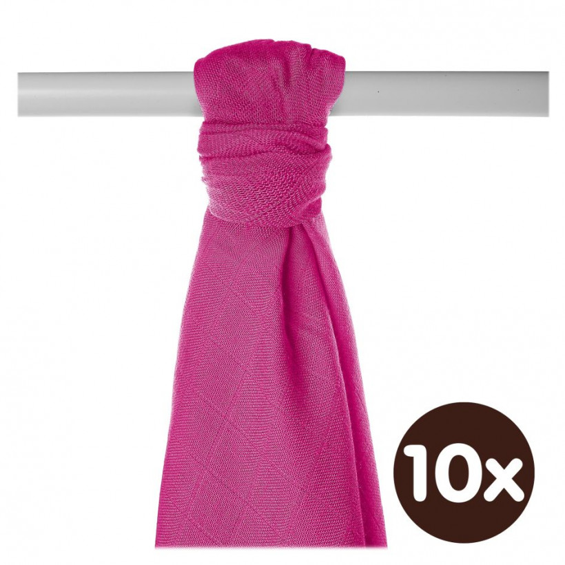 Bamboo muslin towel XKKO BMB 90x100 - Magenta 10x1pcs (Wholesale packaging)