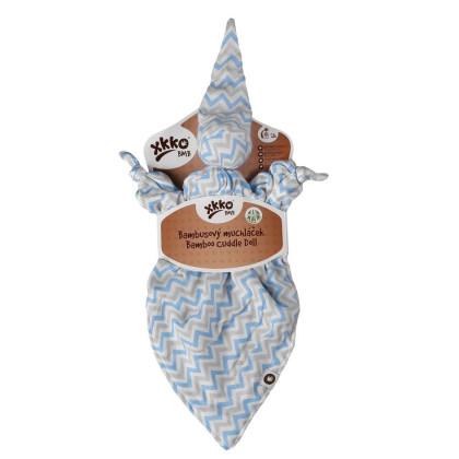 Bamboo cuddly toy XKKO BMB - Baby Blue Chevron