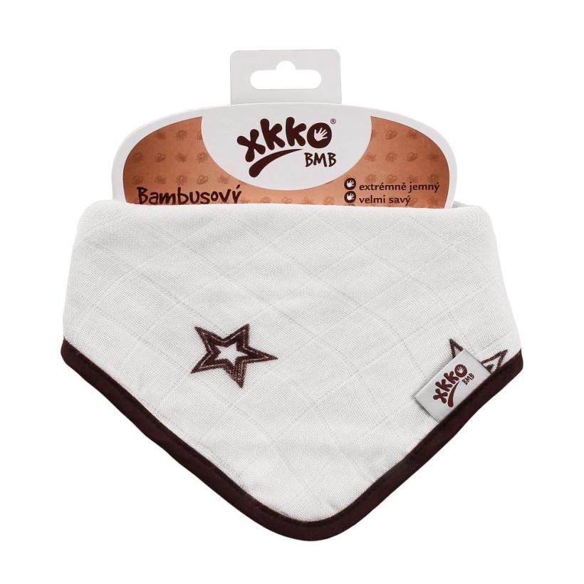 Bamboo bandana XKKO BMB - Natural Brown Stars 3x1ps Wholesale packing