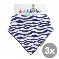 Dribble Ons Zebra 3x1ps (Wholesale pack.)