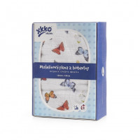 Organic Cotton Swaddle XKKO Organic 120x120 - Butterflies