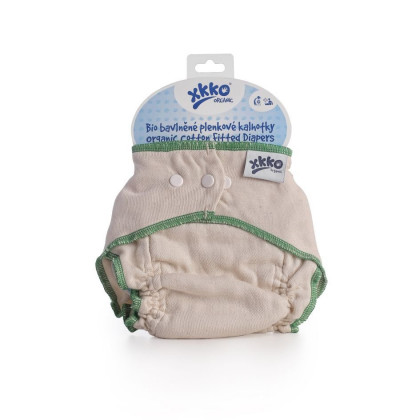 Organic cotton fitted diaper XKKO Organic - Natural Size L