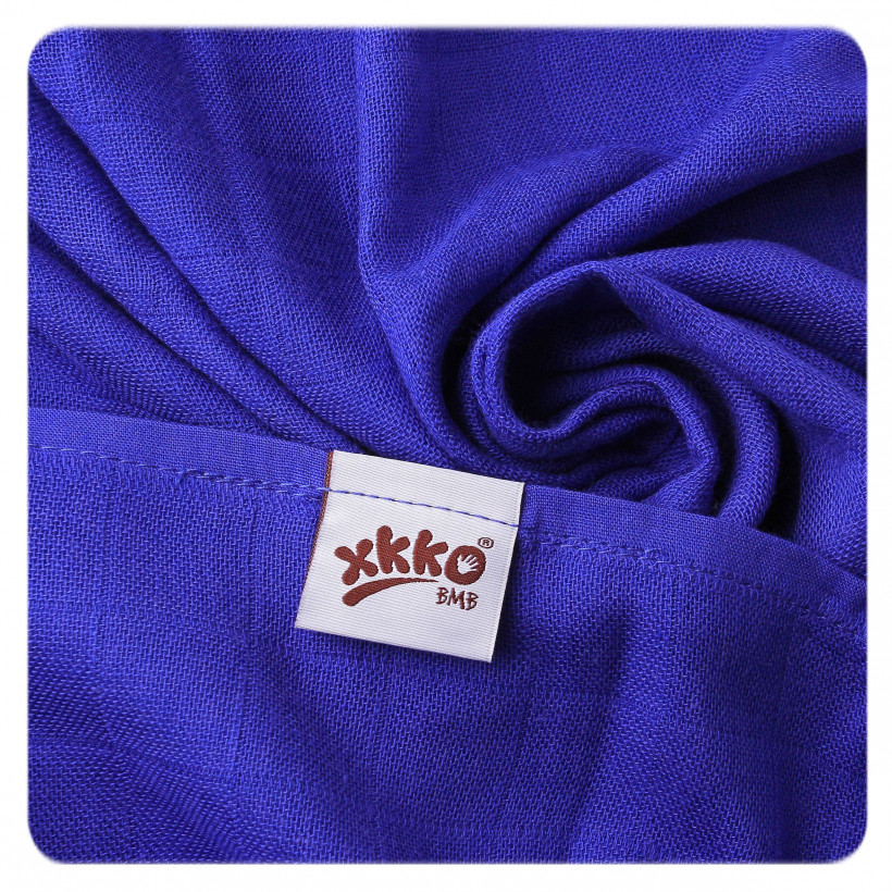 Bamboo muslin towel XKKO BMB 90x100 - Ocean Blue 10x1pcs (Wholesale packaging)