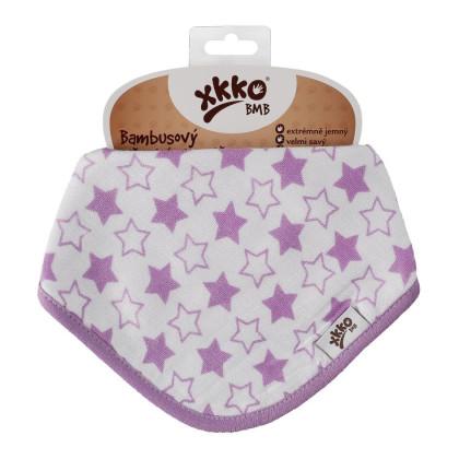 Bamboo bandana XKKO BMB - Little Stars Lilac