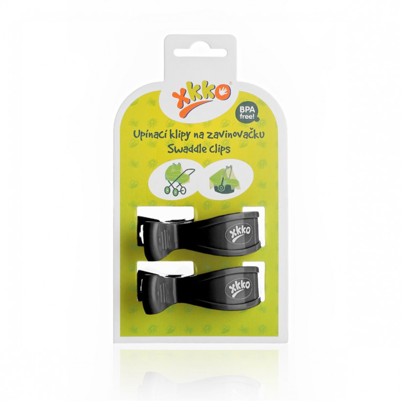 Pram Clips XKKO - Black 5x2ps (Wholesale pack.)