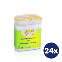 Prefolded Diapers XKKO Classic - Newborn White 24x6ps (Wholesale pack.)