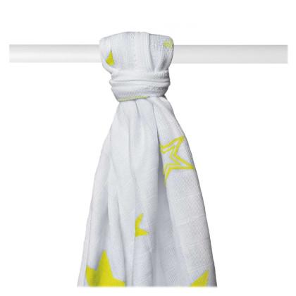 Bamboo muslin towel XKKO BMB 90x100 - Lemon Stars