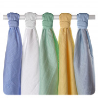 Organic Cotton Muslins XKKO Organic 70x70 Old Times - Pastels for Boys