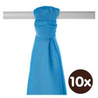 Bamboo muslin towel XKKO BMB 90x100 - Cyan 10x1pcs (Wholesale packaging)