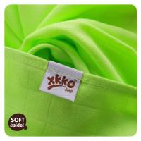 Bamboo muslins XKKO BMB 70x70 - Spirals&Bubbles Lime MIX 3pcs
