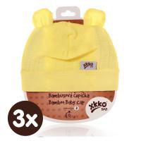Bamboo Baby Hat XKKO BMB - Lemon 3x1ps (Wholesale packaging)