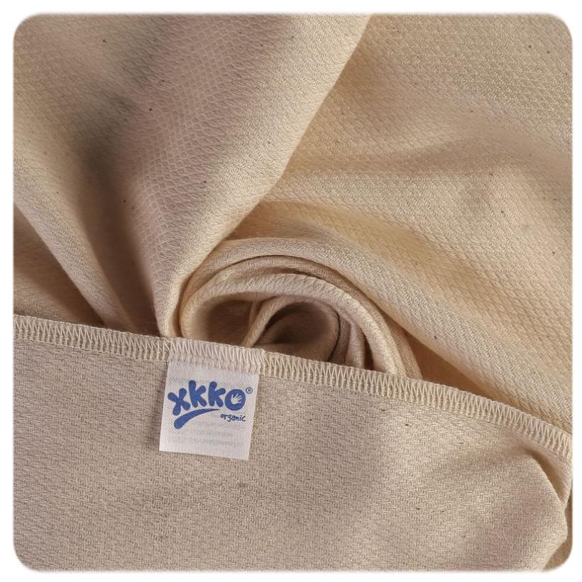 Organic Cotton Diapers XKKO Organic 60x60 Bird Eye - Natural