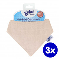 Organic Cotton Muslin Bandana XKKO Organic - Natural 3x1ps (Wholesale pack.)