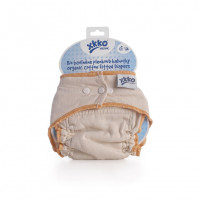 Organic cotton fitted diaper XKKO Organic - Natural Size S 5x1ps (Wholesale pack.)