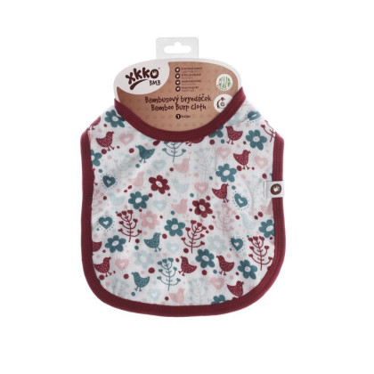 Bamboo Burp Cloth XKKO BMB - Flowers&Birds Girls (with PUL)