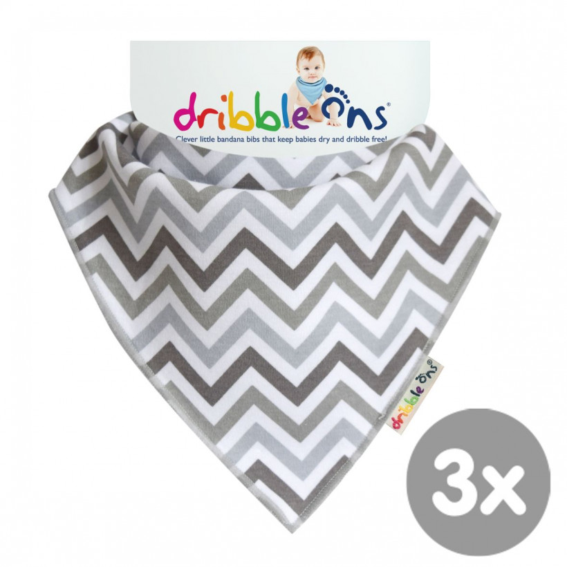 Dribble Ons Chevron 3x1ps (Wholesale pack.)