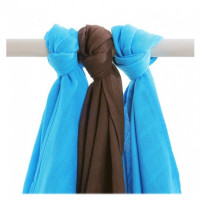Bamboo muslins XKKO BMB 70x70 - Cyan Choco MIX 10x3pcs (Wholesale packaging)