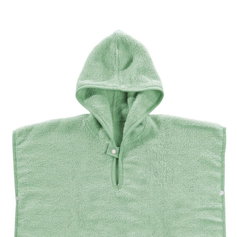 Organic cotton terry Poncho XKKO Organic - Mint Stars