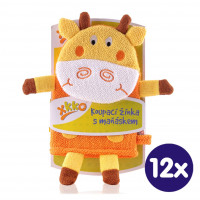 XKKO Cotton Bath Glove - Giraffe 2 12x1ps (Wholesale pack.)
