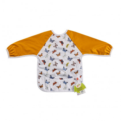 XKKO long-sleeve bib - Butterflies