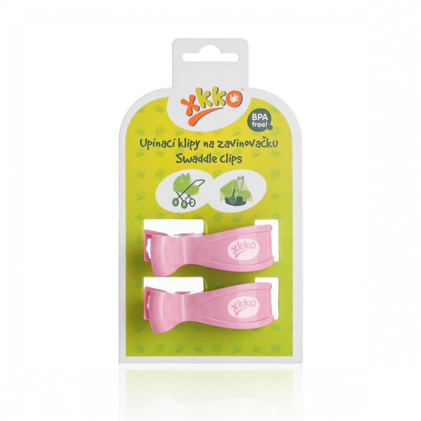 Pram Clips XKKO - Baby Pink 5x2ps (Wholesale pack.)