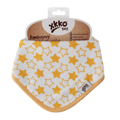 Bamboo bandana XKKO BMB - Little Stars Orange