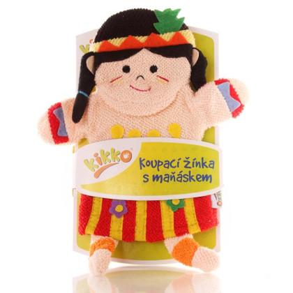 XKKO Cotton Bath Glove - Indian Girl