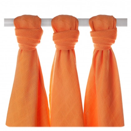 Bamboo muslins XKKO BMB 70x70 - Orange 3pcs
