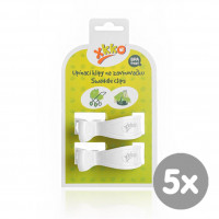 Pram Clips XKKO - White 5x2ps (Wholesale pack.)