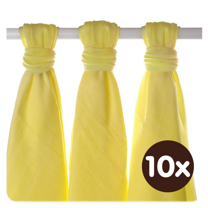 Bamboo muslins XKKO BMB 70x70 - Lemon 10x3pcs (Wholesale packaging)