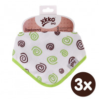 Bamboo bandana XKKO BMB - Lime Spirals 3x1ps Wholesale packing