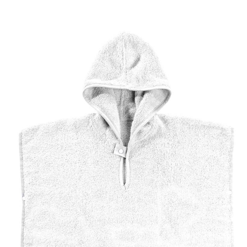 Organic cotton terry Poncho XKKO Organic - White Stars